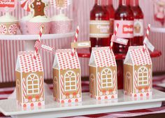 Gingerbread House Decorating Party Ideas from Wants & Wishes featured on AmysPartyIdeas.com