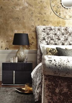 Add sumptuous, sophisticated style to your bedroom with an upholstered bed frame in luxe crushed velvet.