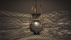Buy handcrafted Islamic-style Moroccan hanging lantern from E Kenoz. Made of solid brass & Islamic Arabic calligraphy engraved brass to suit unique taste. Moroccan Hanging Lanterns, Moroccan Lighting, Swag Pendant Light, Brass Lamp, Lantern Lighting, Table Lighting, Lantern Lamp, Wow Products, Silver Plate