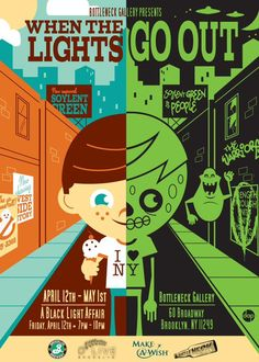 When The Lights Go Out - Opening Reception: April 12th @ 7PM | Bottleneck Art Gallery