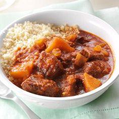 Moroccan Apple Beef Stew Recipe | Taste of Home