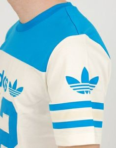 the best attitude 84105 99e57 Adidas Heritage American Football T-Shirt - White Blue