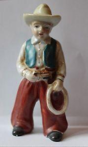 vintage Occupied Japan cowboy figurine lasso western hat 5