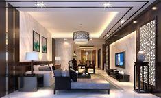 Living room ceiling rendering