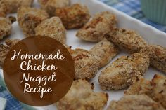 Homemade Chicken Nuggets Recipe - a super easy recipe that makes it possible to cook healthy chicken nuggets very quickly.