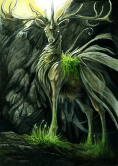 Lord of the forest Forest Creatures, Woodland Creatures, Magical Creatures, Beautiful Creatures, Hirsch Wallpaper, Fantasy World, Fantasy Art, Dragons, Nature Spirits