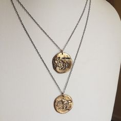 Antique Zodiac Medallion Necklace in Bronze and by ModernBronze, $78.00