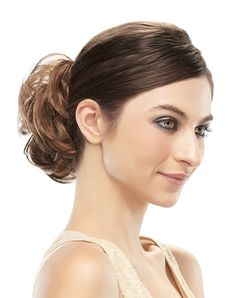 """Fiber: Synthetic Hair Elastic Band Attachment Overall Length: 4 1/2"""" Weight: 0.93 oz Scrunchie Haircut For Thick Hair, Short Hair Updo, Short Hair With Bangs, Hairstyles With Bangs, Short Hair Cuts, Braided Hairstyles, Short Hair Styles, Fashion Hairstyles, Hairstyle Ideas"""