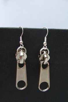 -Zipper Earrings