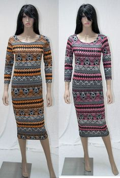 Aztec Tribal Midi dresses Spring summer colours only £12.99
