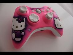 Cute girly Xbox 360 controller. Hello kitty themed. <3 ;3