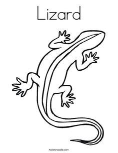 Lizard Coloring Page - Twisty Noodle