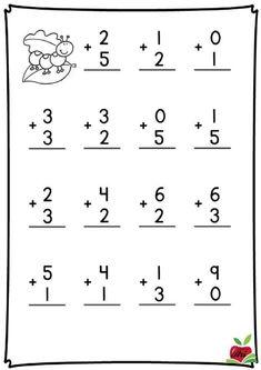 Kindergarten Addition Worksheets, First Grade Math Worksheets, Kindergarten Math Activities, Preschool Math, Kindergarten Worksheets, Graphing Activities, Numbers Preschool, Math For Kids, Numicon