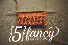 5 fancy rib patterns