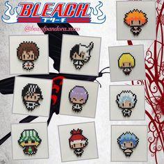 Bleach pixel art. Ichigo Kurusaki, Sosuke Aizen, Ulquiorra Cifer, Shinji Hirako, Byakuya Kuchiki, Gi - boxofpandora.xoxo