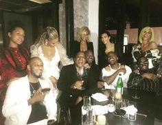 Beyonce ,Jay z, Alicia keyz Swizz Beats,Steve Stoute and wife, kanye west, p diddy and cassie 2016 Vma afterparty