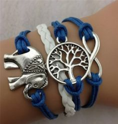 Elephant Jewelry, Elephant Bracelet, Bracelet Infinity, Bracelet Set, Infinity Jewelry, Infinity Pendant, Bracelet Charms, Friend Bracelets, Jewelry Bracelets