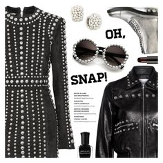 """""""Let's Rock that Party Tonight"""" by sproetje ❤ liked on Polyvore featuring Balmain, Casadei, RED Valentino, Paul Morelli, Deborah Lippmann, Illamasqua, Trendy, contestentry, WearIt and partylook"""