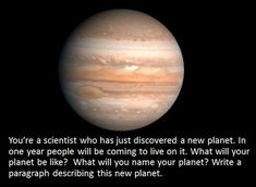 New Planet writing prompt