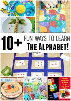10+ Fun Ways to Learn the Alphabet in Preschool and Kindergarten!