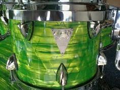 OCDP drum in shining lime green. RESEARCH #DdO) - https://www.pinterest.com/DianaDeeOsborne/drums-drumming-joy/ - DRUMS & DRUMMING JOY. Orange County Drum & Percussion shop is a retailer of many brands of drumkit pieces... my favorite fun piece in their collection is the matching neon drumsticks... #DdO:)