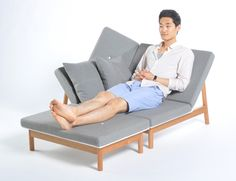 possibly the most perfect piece of furniture on earth, yet i can't find a price or way to purchase. the ottoman is separate, so you can set it at any angle. day bed, lounger, chair, stool. cherry frame, lacquered-plywood shell. also: gorgeous.