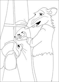 Dibujos para Colorear El valiente Despereaux 6