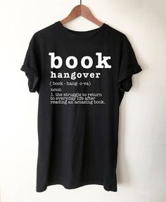 22 Christmas gift ideas for book lovers, including this cute 'book hangover' shirt. Filled with creative gift ideas from Etsy and more.