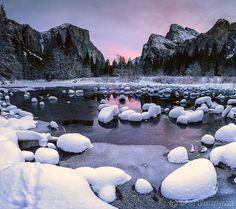 Snowy Valley by Nae Chantaravisoot
