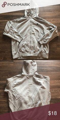 5579af83a9d841 NIKE AIR JORDAN ZIP UP JACKET COAT HOODIE Men s size xxl grey cotton jacket  two front
