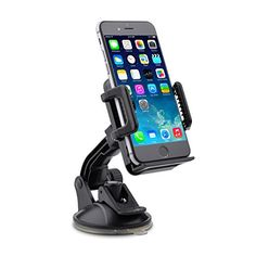 cool TaoTronics Car Phone Mount Holder, Windshield / Dashboard Universal Car Mobile Phone cradle for iOS / Android Smartphone and More