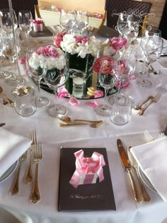 Sean and Claire table setting at a roof top restaurant in Rome, beautiful...www.weddingsinrome.com