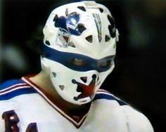 John Davidson - New York Rangers Rangers Hockey, Ice Hockey Teams, Hockey Goalie, Hockey Stuff, John Davidson, Nfl Highlights, Goalie Mask, The Lone Ranger, Masked Man