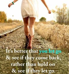 sometimes people just don't stay, always move forward