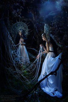 Goddess Marena (Mara). Goddess of Winter. Goddess gives instructions deceased.