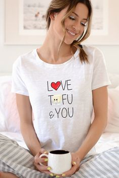 35d34fc16c Love Tofu   You Shirt - Vegan Clothing - Vegan Tee - Vegan Valentines Gift  - Vegan T Shirt Women