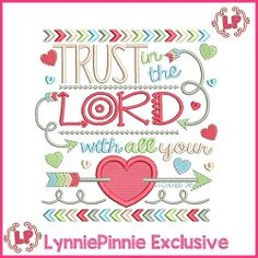 Trust in the Lord Tribal Applique - 4 Sizes!   What's New   Machine Embroidery Designs   SWAKembroidery.com Lynnie Pinnie