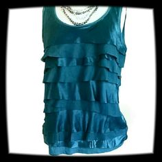 Ann Taylor Loft Top It's teal tiered and really silky. Ann Taylor Tops Blouses