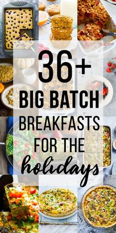 Big Batch Christmas Breakfast Ideas More than 36 healthy Christmas breakfast ideas that you can serve your guests for the holidays! Sharing Christmas brunch ideas including egg-based, oatmeal, sweet and savory! Breakfast Party, Best Breakfast, Breakfast Ideas, Breakfast Recipes, Breakfast Toast, Vegetarian Breakfast, Breakfast Time, Vegan Vegetarian, Christmas Brunch