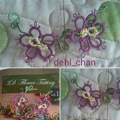 dehl_chan - Prøvde blomsterkrans-mønster frå Terachi Yuuko si bok 3D Flower Tatting vol 1. Veldig kjekt å endelig lære blomsterkrans  ---- Tried flower pattern from Terachi Yuukos book 3D Flower Tatting vol 1. Fun to finally learn how to make flower wreath  ---- #nuperelle #nupereller #tattinglace #tattedlace #tatting #orkis #orkering #frivoliteter #frivolite #chiacchierinoadago #chiacchierino #imadethis #dehl_chan #タティング #タティングレース #ドイリー #梭織 #handmade #shuttletatting #frywolitki…
