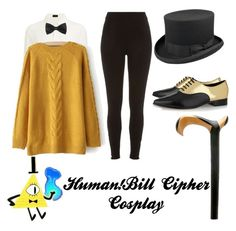 Human!Bill Cipher Cosplay by gracie-fashions on Polyvore featuring polyvore, fashion, style, Joseph, River Island and Michael Kors