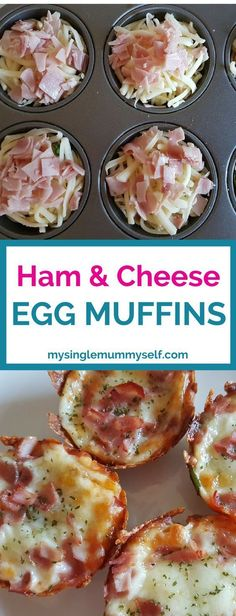 Muffin tray recipe. Ham and cheese egg muffins. Cooking kids will love #babyfoodrecipes