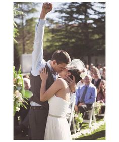 Bride and grooms first kiss | Maybe my favorite first kiss shot!