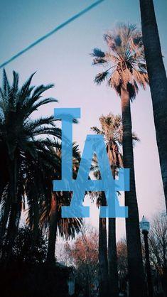 My World Homs — wallpapers-okay: LA Dodgers logo /requested by. Summer Wallpaper, City Wallpaper, Cool Backgrounds, Wallpaper Backgrounds, Iphone Wallpaper Los Angeles, California Wallpaper, Baseball Wallpaper, Los Angeles Travel, Aesthetic Wallpapers