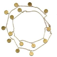 """Round Discs Coins Brushed Textured 18k Yellow Gold Plated Chain Link Necklace 36"""" Rich Chic Jewelry. $33.32. 18k Yellow Gold Plated. 36"""" Length. Free Jewelry Pouch Included"""