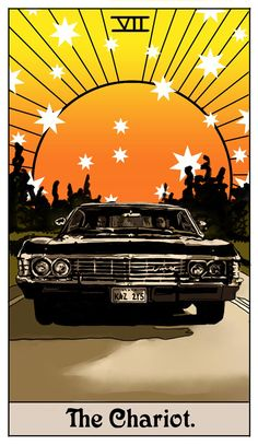 The Winchester Family Business - Inspired by Supernatural: Tarot Cards by Britanee Supernatural Imagines, Supernatural Drawings, Supernatural Bloopers, Supernatural Fan Art, Castiel, Supernatural Wallpaper Iphone, Supernatural Impala, Fanart, Arte Punk