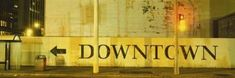 Downtown Sign Printed on a Wall, San Francisco, California, USA Photographic Print by Panoramic Images at Art.com