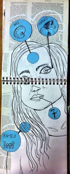 Visual Journal #12 - DECONSTRUCT - Room 416 art