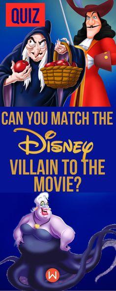 Disney Quiz: How well do you know these Disney villains? Buzzed Quizzes, Playbuzz Quiz, Disney Villains, Movie Trivia, Movie Questions, Movie Knowledge test, Disney Movie Quiz, Disney Characters
