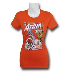 With the 100% cotton Atom #34 Cover Women's T-Shirt, you can celebrate the first appearance of the new Atom, Ray Palmer! Whooooo! I thought it was Paul Rudd...wait, wrong hero you say? No matter, get sub-atomic with the Atom #34 Cover Women's T-Shirt. Rad!
